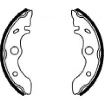 Kočione obloge set front 160x30mm include springs
