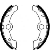 Kočione obloge set front 160x25mm include springs