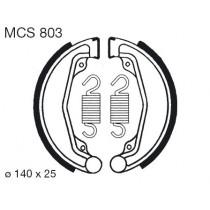 Kočione obloge set front 140x25mm include springs HONDA C CD CL CM XR 50-250 1978-