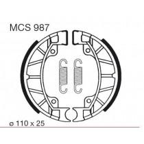 Kočione obloge set front 110x25mm include springs PIAGGIO/VESPA SFERA 1 SFERA 2 50/80 1991-