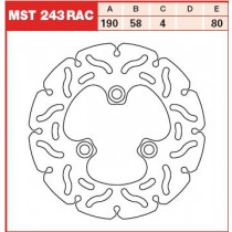 Disk Front 190/58/4mm, number of holes-3 10,5/80mm