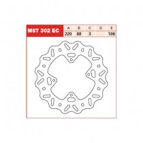 Disk Front 220/88/3mm, number of holes-4 6,5/106mm