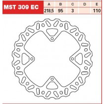 Disk Front 218,5/95/3mm, number of holes-4 6,5/110mm