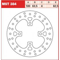 Disk Front 180/63,5/4mm, number of holes-4 8,5/82,5mm
