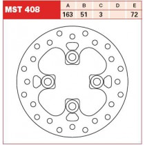 Disk Front 163/51/3mm, number of holes-4 10,5/72mm