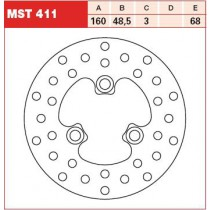 Disk Front 160/48,5/3mm, number of holes-3 10,5/68mm