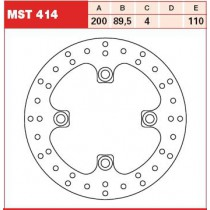 Disk Front 200/89,5/4mm, number of holes-4 10,5/110mm