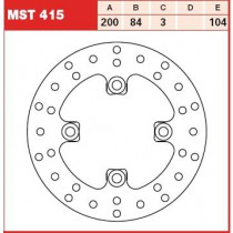 Disk Front 200/84/3mm, number of holes-4 10,5/104mm